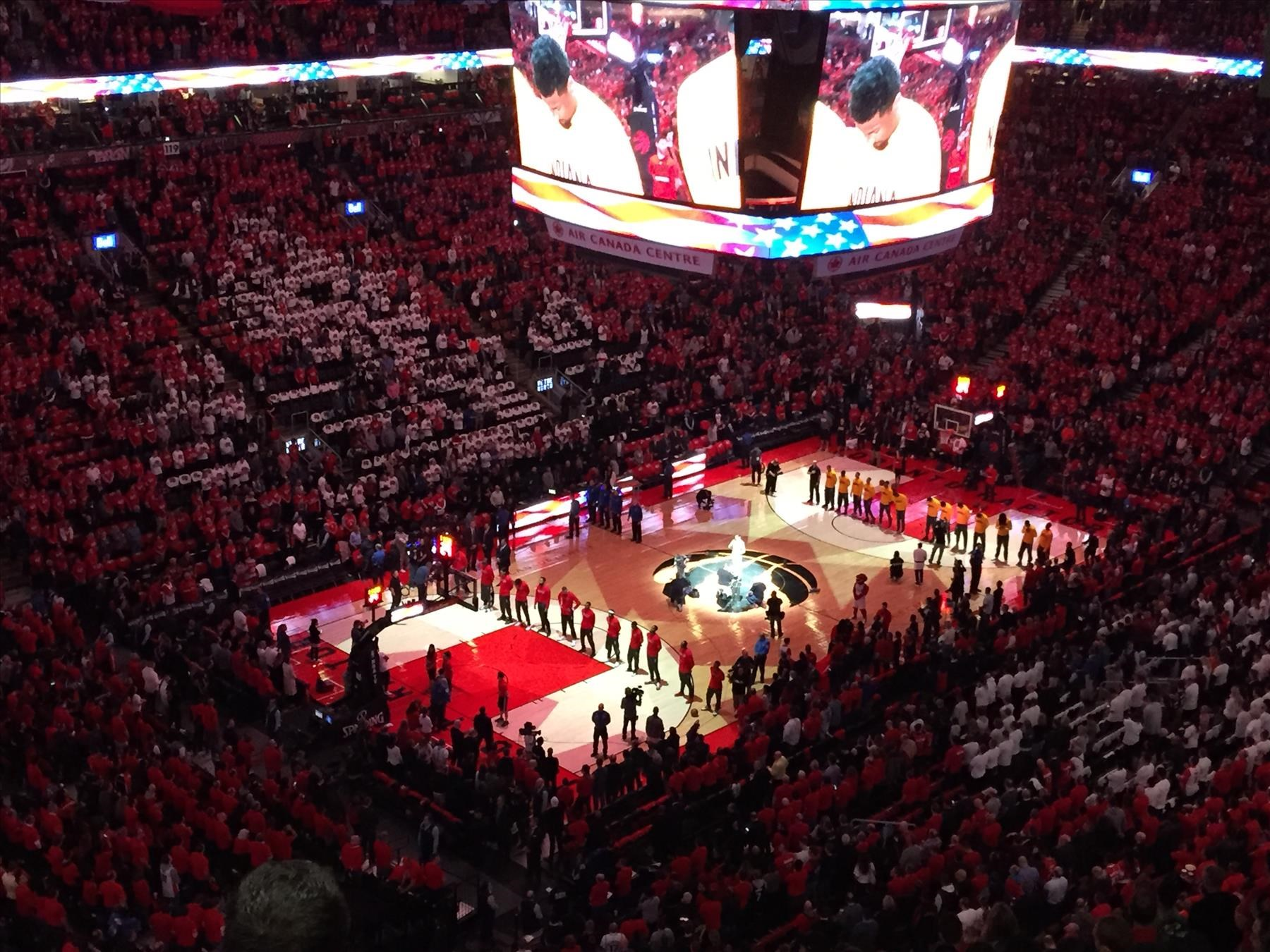 Our view at the Raptors Game 7 vs Indiana