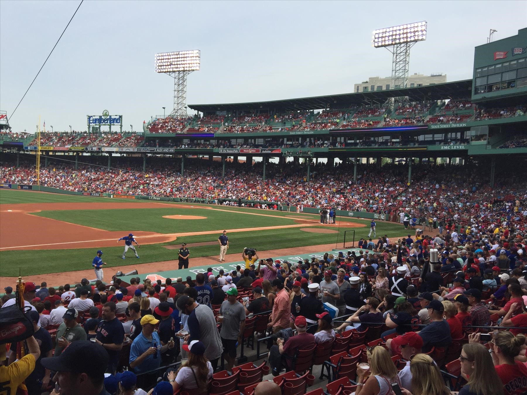 Blue Jays in Fenway Park vs Boston Red Sox