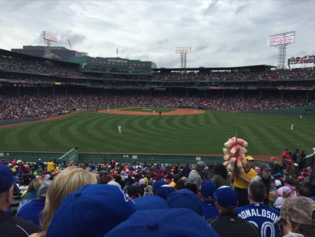 Blue Jays in Fenway Park vs Boston Red Sox 3768 blue jays in fenway park vs boston red sox 3