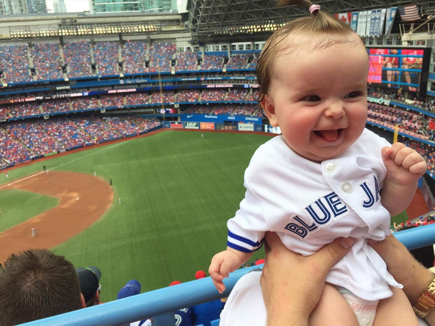 Baby Layla at her first jays game
